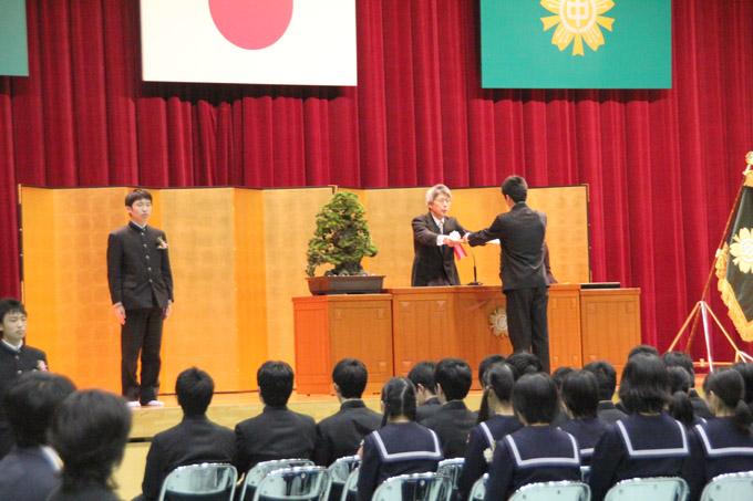 県立八代中学校で初めての卒業式 / まちのわだいTOP / 八代市